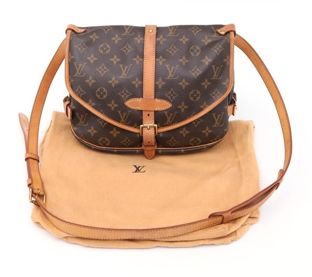Bolsa Louis Vuitton Monograma Canvas Saumur MM