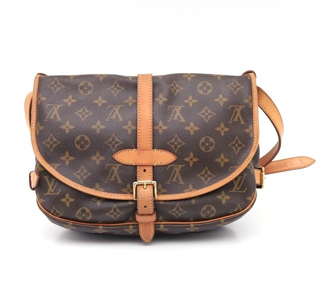 Bolsa Louis Vuitton Monograma Canvas Saumur MM - Paris Brechó - Artigos de Luxo Seminovos