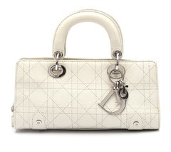 Bolsa Christian Dior Mini Lady Dior E/W Off-White