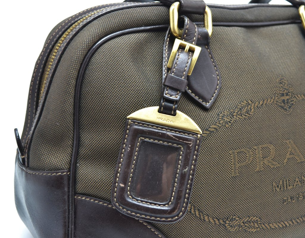 d0897192b ... comprar online; Bolsa Prada Logo Jacquard Canvas Bowling na internet ...
