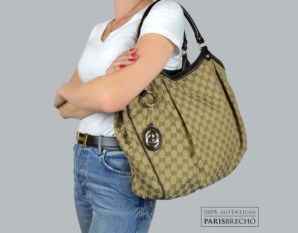 c8668cfab Bolsa Gucci Large Sukey GG