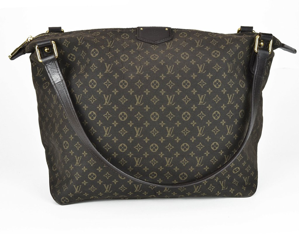 c6af34d9407 Bolsa Louis Vuitton Fusain Monogram Idylle Canvas Ballade PM