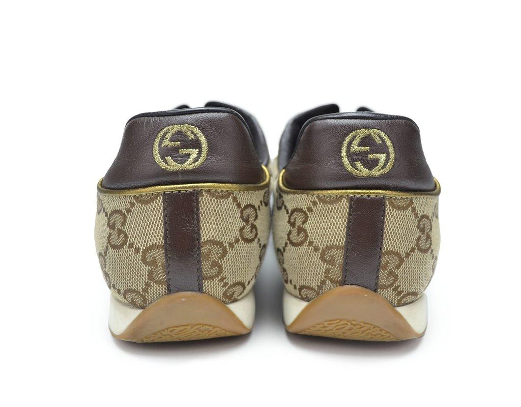 719f42f1f9340 ... internet  Tênis Gucci GG Guccissima - TAM 38 Brasil - Paris Brechó -  Artigos de Luxo Seminovos ...
