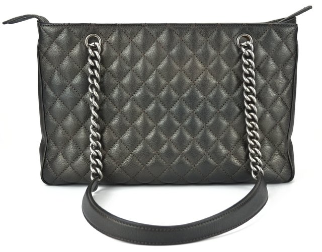 Chanel Shopping Tote Metalic Grafite - loja online