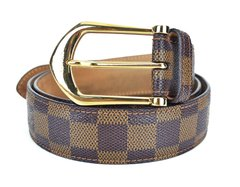 Cinto Louis Vuitton Damier Canvas Tam 90
