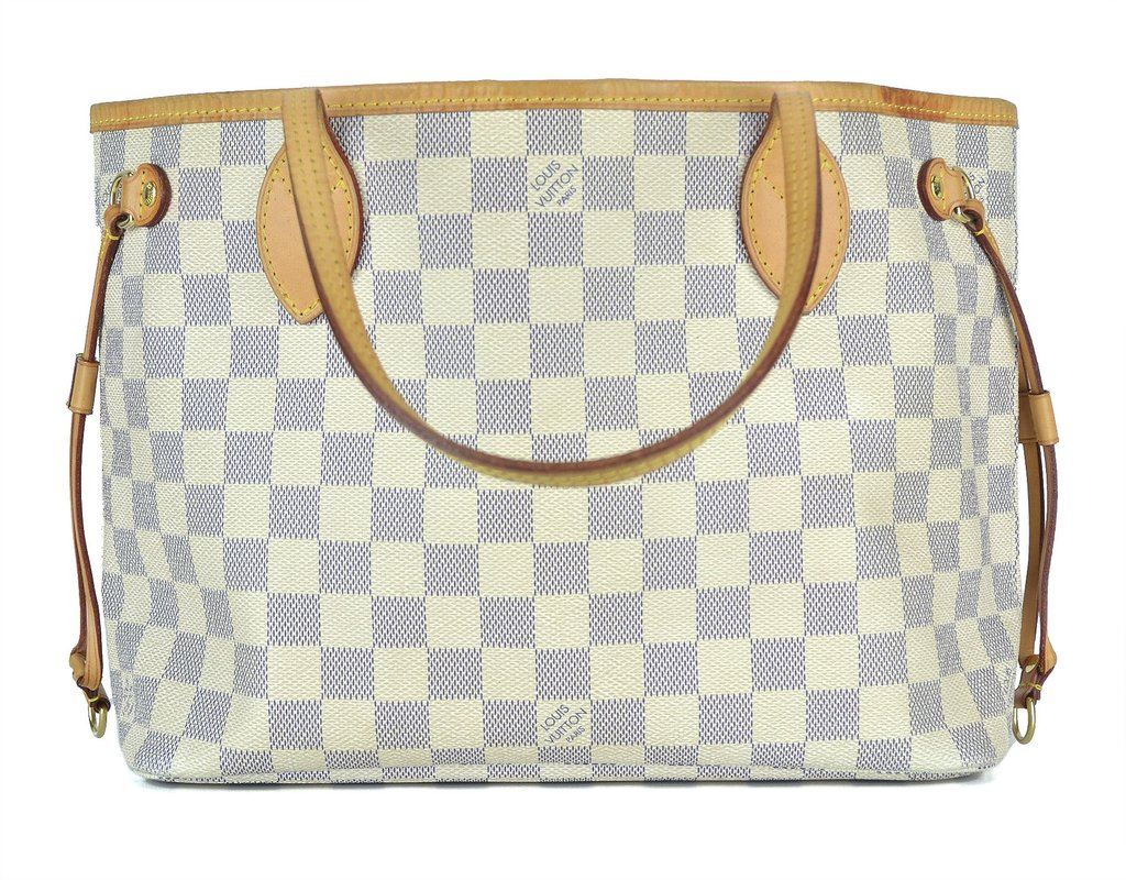 d3e096815 Bolsa Louis Vuitton Neverfull Damier Azur PM