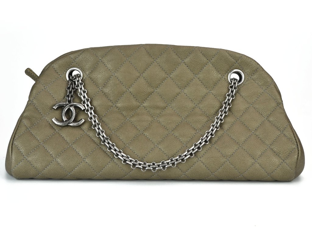 19e23b8e7 Bolsa Chanel Just Mademoiselle Dark Gold Caviar