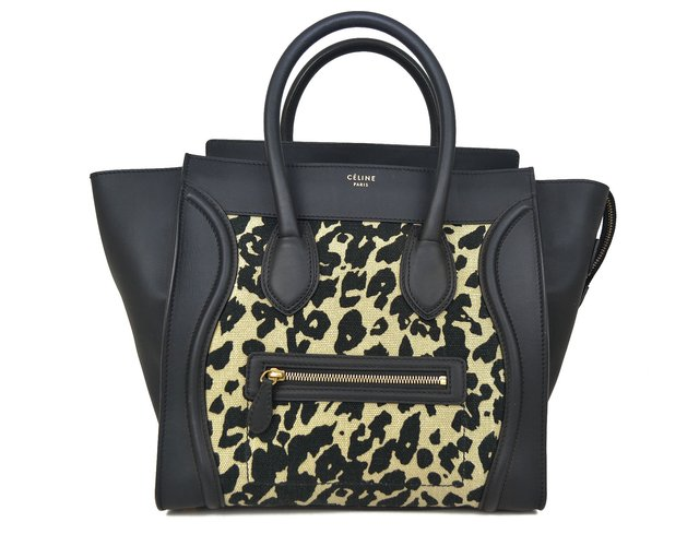Céline Mini Luggage Tote Animal Print