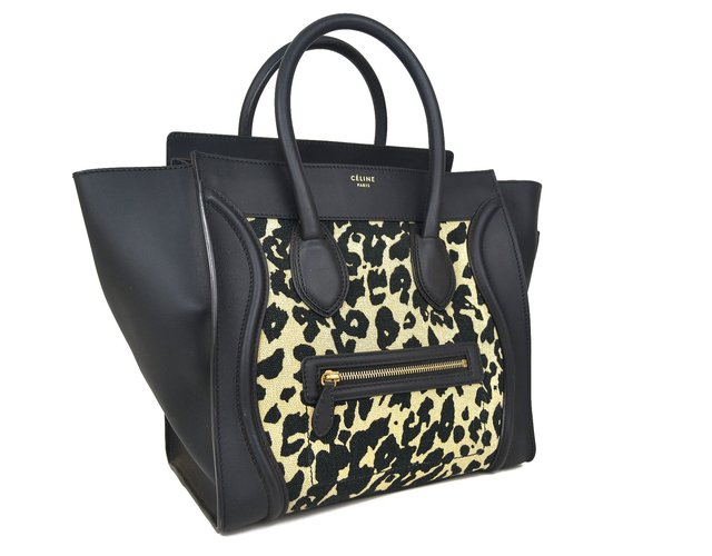 Céline Mini Luggage Tote Animal Print - comprar online
