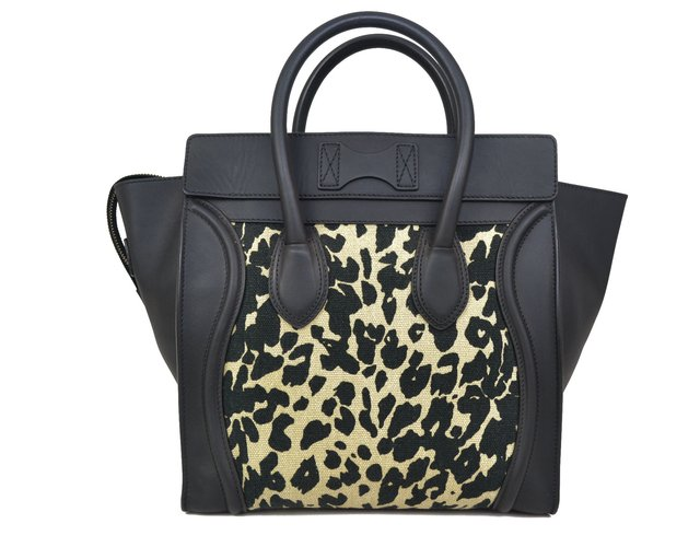 Céline Mini Luggage Tote Animal Print - loja online