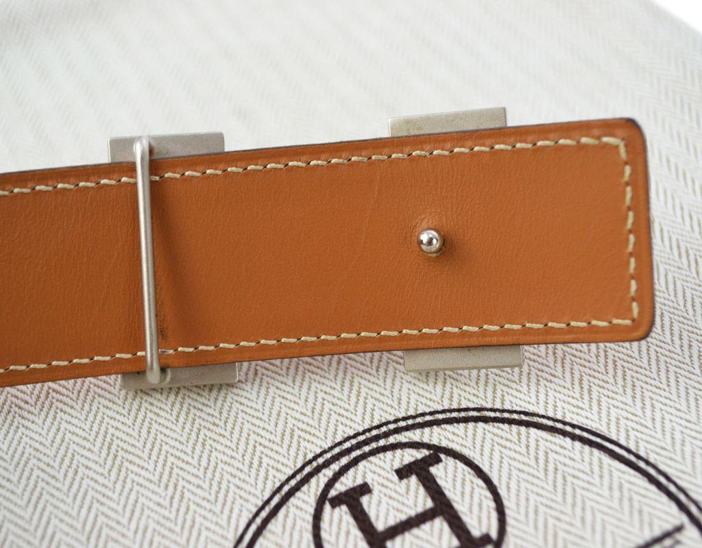 4ce9aa4353a Cinto Hermès Dupla Face TAM 80