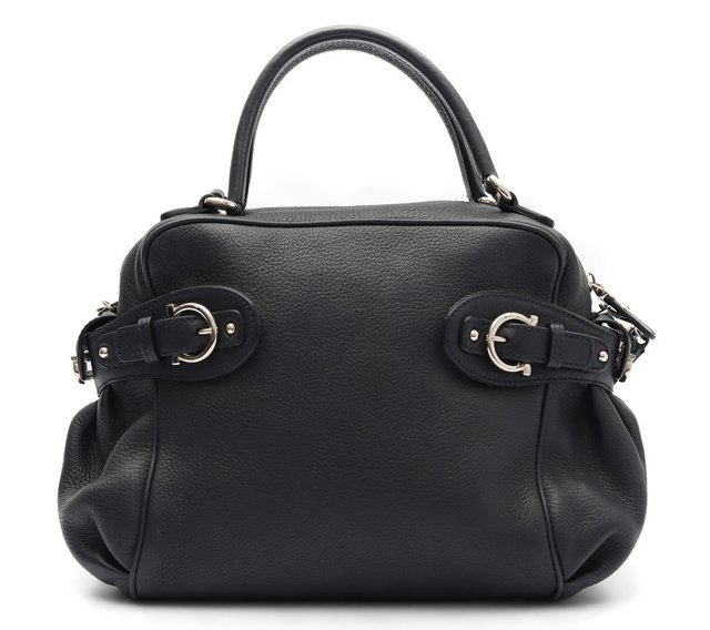 Bolsa Salvatore Ferragamo Blueberry Pebbled Calfskin