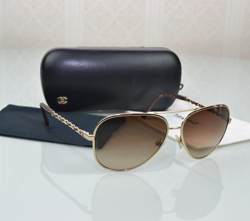 15482e54e Imagem do Óculos de Sol Chanel Aviador 4194-Q ...