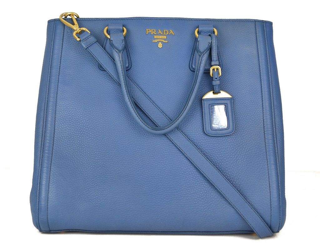 a5dbb4e21e7 Bolsa Prada Vitello Daino Top Handle Tote