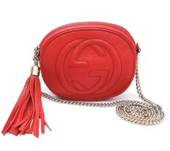 Bolsa Gucci Mini Soho Chain Crossbody Vermelha
