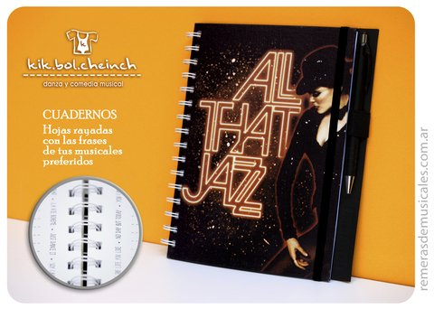 Cuaderno A5 - ALL THAT JAZZ