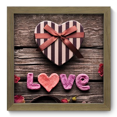 Quadro Decorativo - Love - 001qdom