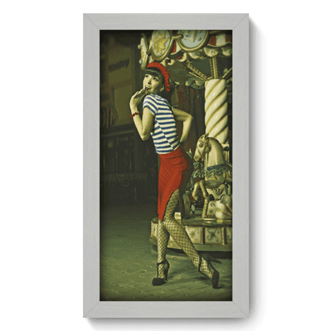 Quadro Decorativo - Pin-up Girl - 001qdvb