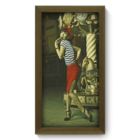 Quadro Decorativo - Pin-up Girl - 001qdvm