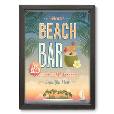 Poster Decorativo - Beach Bar - 003pst