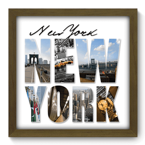 Quadro Decorativo - New York - 005qdmm