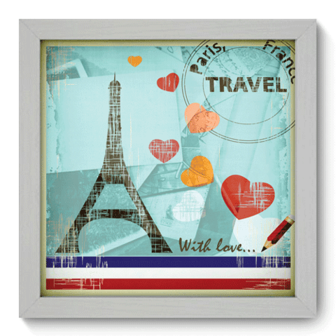Quadro Decorativo - Paris - 007qdmb