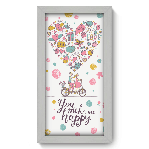 Quadro Decorativo - Happy - 007qdob