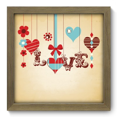 Quadro Decorativo - Love - 010qdom