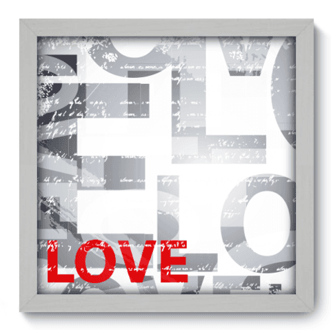 Quadro Decorativo - Love - 011qdob