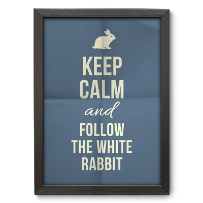 Poster Decorativo - White Rabbit - 012pst