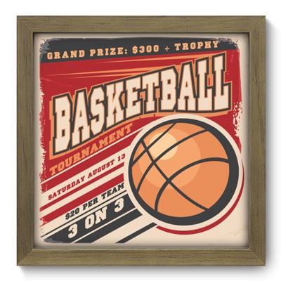 Quadro Decorativo - Basketball - 012qdem