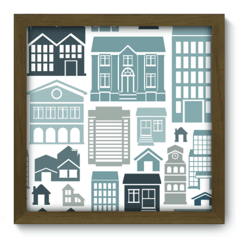 Quadro Decorativo - Houses - 012qdum