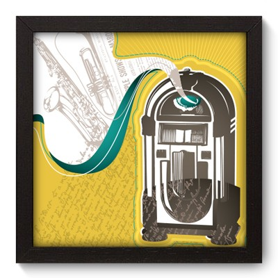 Quadro Decorativo - Jukebox - 013qdgp