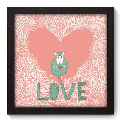 Quadro Decorativo - Love - 013qdop