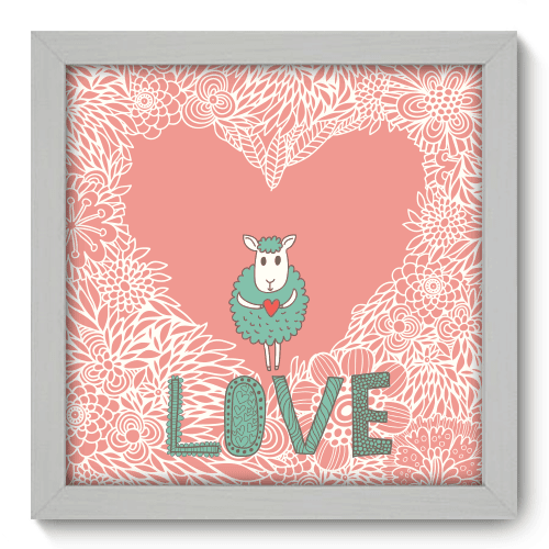 Quadro Decorativo - Love - 013qdob