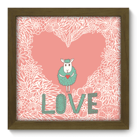 Quadro Decorativo - Love - 013qdom