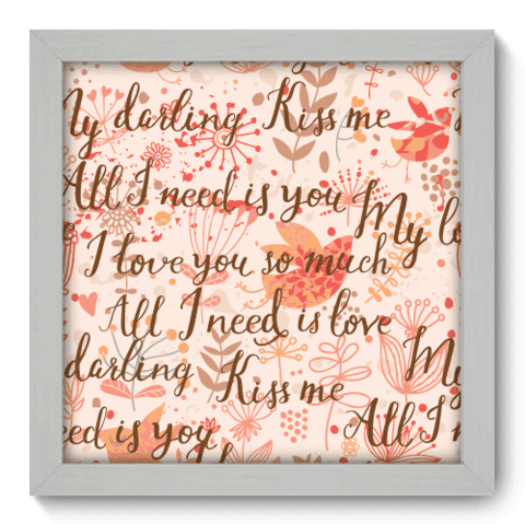 Quadro Decorativo - Kiss Me - 014qdob