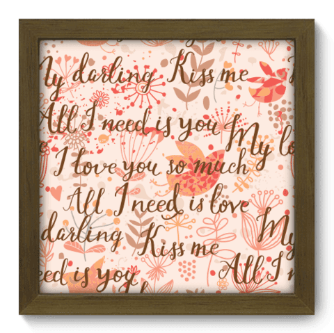 Quadro Decorativo - Kiss Me - 014qdom