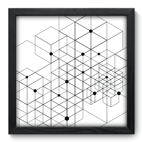 Quadro Decorativo - Dots - 015qdap