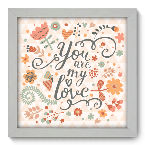Quadro Decorativo - My Love - 015qdob