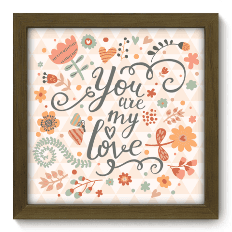 Quadro Decorativo - My Love - 015qdom