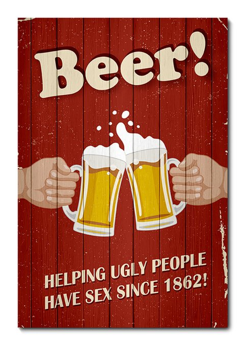 Placa Decorativa - Beer - Cerveja - 0168plmk