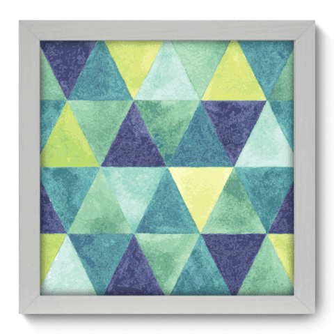 Quadro Decorativo - Triangulos - 017qdab