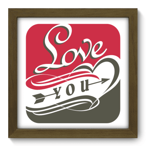 Quadro Decorativo - Love You - 018qdom