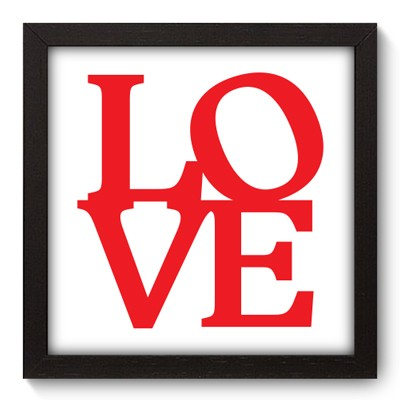Quadro Decorativo - Love - 019qdop