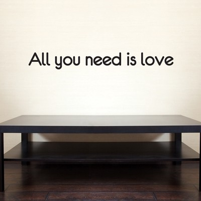 Adesivo de Parede - All you need is love - 020fr