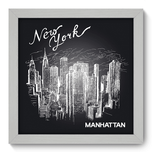 Quadro Decorativo - Manhattan - 020qdmb