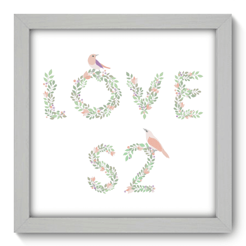 Quadro Decorativo - Love - 022qdob