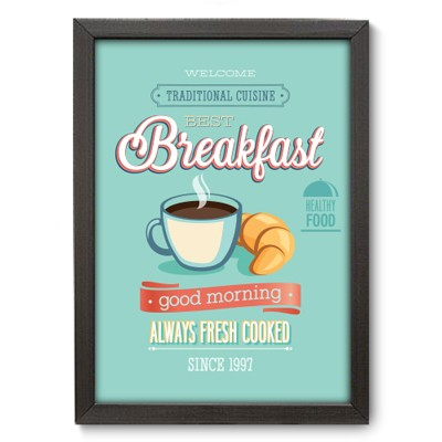 Poster Decorativo - Breakfast - 023pst