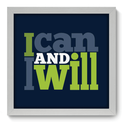 Quadro Decorativo - I Will - 024qdrb